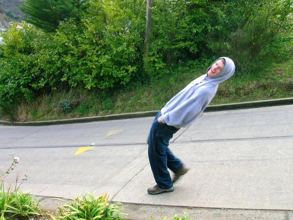 rolling uphill