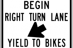 Begin right turn lane yield to bikes