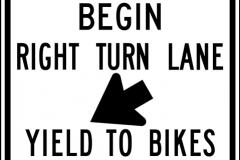 Begin right turn lane yield to bikes