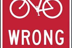 Bicycle wrong way