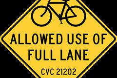 Bicycles allowed full lane