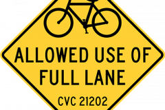 Bicycles allowed full lane