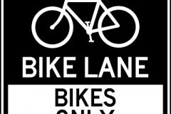 Bike lane bikes only