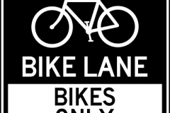 Bike lane bikes only