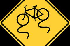 Bike lane slippery when wet
