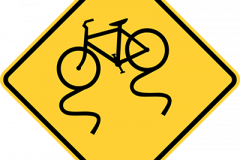 Bike lane slippery when wet
