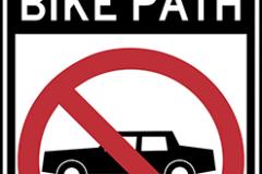 Bike path no automobiles