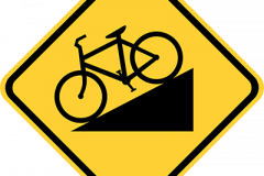 Hill warning for bikes