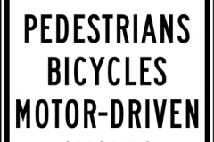 No Pedestrian Crossing Bicycles or Motorcycles