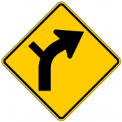 Combination Curve Side Road Intersection