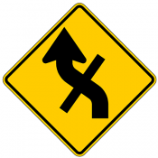 Combination Reverse Curve Cross Road Intersection