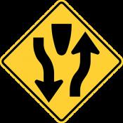 Divided highway begins or ends