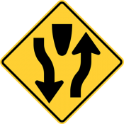 Divided highway begins or ends