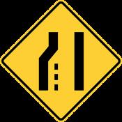 Lane ends