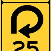 Ramp speed advisory exit