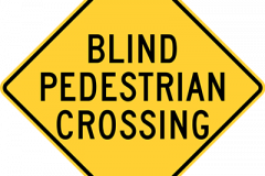 Blind pedestrian crossing
