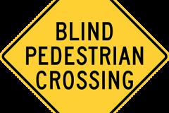 Blind pedestrian crossing