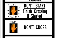 Crosswalk signal instructions
