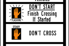 Crosswalk signal instructions