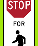 In street ped stop crossing
