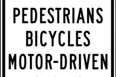 No Pedestrian Crossing Bicycles or Motorcycles