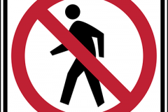 No pedestrian crossing