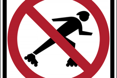 No rollerblading allowed