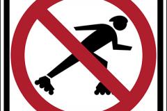 No rollerblading allowed