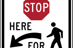 Stop here to peds