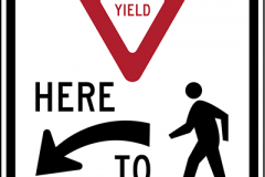 Yield here to peds