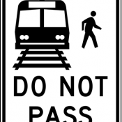 Do not pass stopped trains