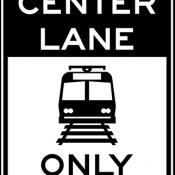 Light rail only in center lane