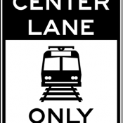 Light rail only in center lane