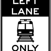 Light rail only in left lane