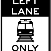 Light rail only in left lane