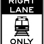 Light rail only in right lane