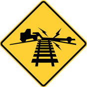 Low ground clearance railroad crossing