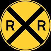 Railroad crossing ahead