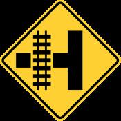 Railroad intersection warning