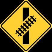 Skewed railroad crossing