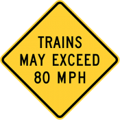 Trains may exceed 80 mph