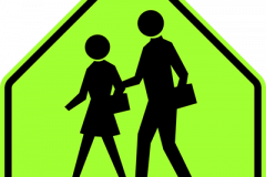 Pedestrian crosswalk near schools