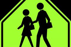 Pedestrian crosswalk near schools