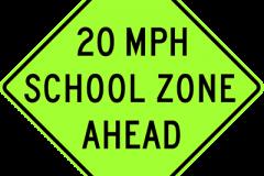 School Speed zone ahead