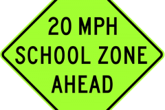 School Speed zone ahead