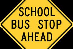 School bus stop ahead prior to 2012