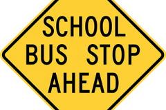 School bus stop ahead prior to 2012
