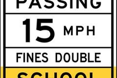 School zone speed limit sign