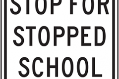 State law stop for stopped school bus