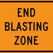 End of blasting zone
